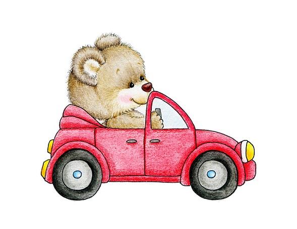 teddy-red-car